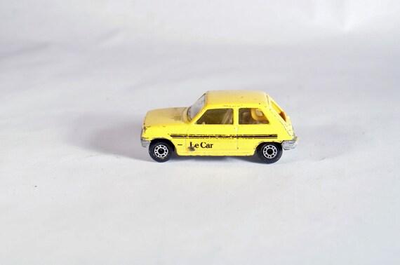 Boîte d'allumettes jouet Renault Slt 1978 Lesney Vintage Angleterre voiture blanche Original