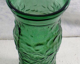 Green Brody Vase Glass Co Vintage Cleveland Crinkle Usa Emerald Textured Ohio Planter Tall Oh