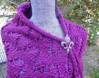 Long Hand Knitted Shawl