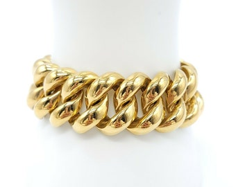 Details about  /AUTHENTIC PRE-OWNED VINTAGE MONET GOLD PLATED BAMBOO CHAIN LINK BRACELET