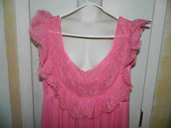 Vintage Pink Lace Claire Sandra by Lucie Ann Pink… - image 5