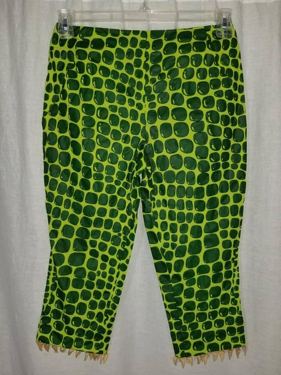 Vintage MOSCHINO Italy 1980's Lime Green Mod Rocke