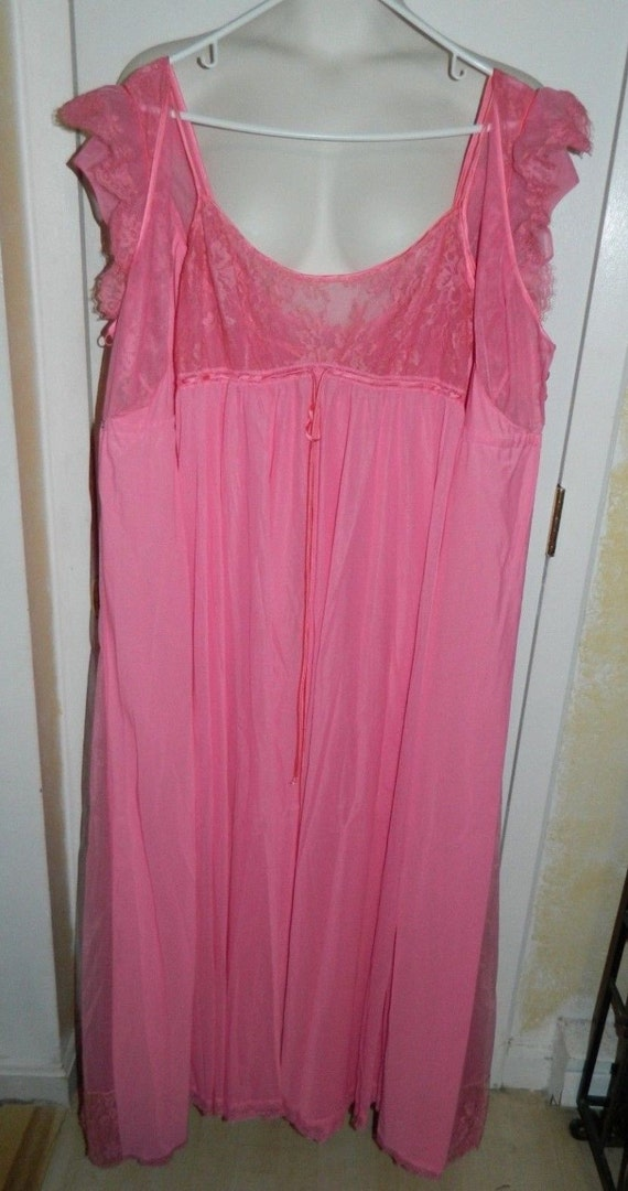 Vintage Pink Lace Claire Sandra by Lucie Ann Pink… - image 2