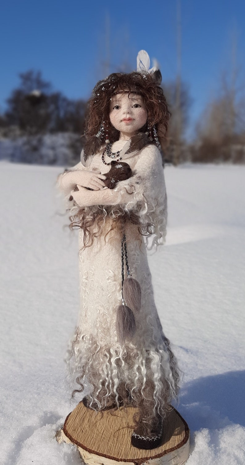 Available now Labiskvi Needle felted doll Art Doll Autor image 0