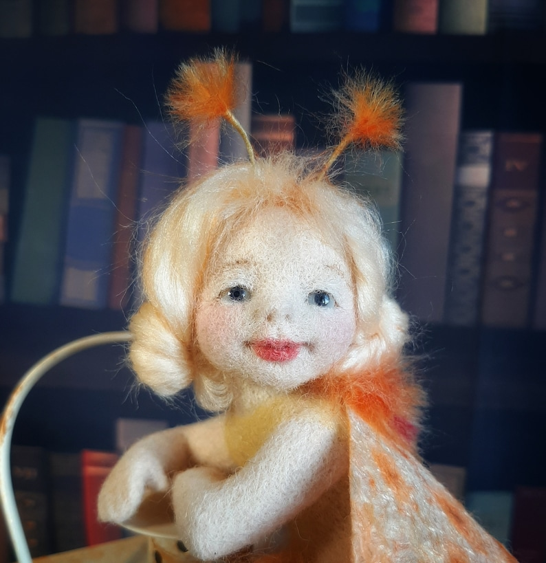 Available now Fairy Moth. Needle felted doll Art Doll image 0