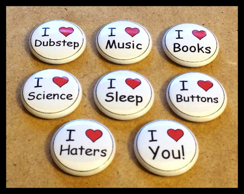 1 Inch I Heart Science Button Pin Pinback Overig Verzamelingen
