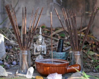 All Natural Magick Ritual Incense Sticks with essential oils no artificial fragrance aromatherapy pagan Palo Santo, Sandalwood InvocāScents
