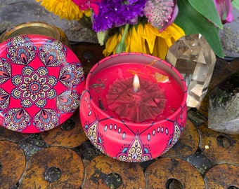 Fire Candle Strength, Courage, Creativity, Transformation  Soy Essential Oils , Sacral, Solar Plexus, Root chakras, Babaylan