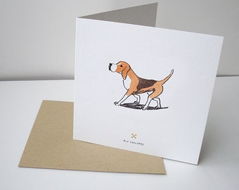 For the Love of Dog Beagle Greetings Card