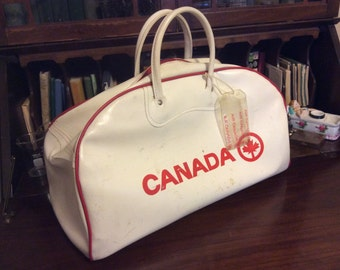 15399ffaa SALE markdown from 75 vintage luggage ... Classic AIR CANADA duffel Bag ...  Retro road trip luv .