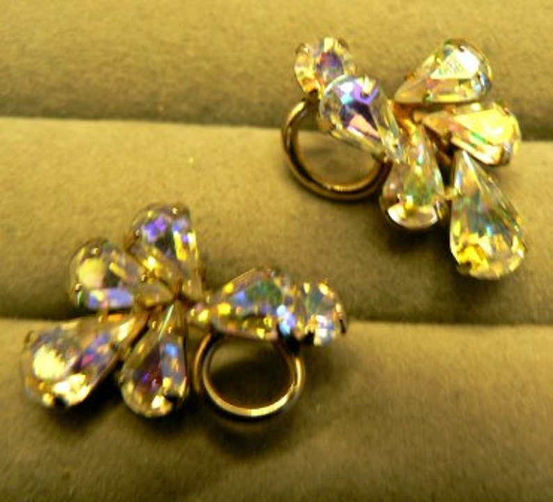 vintage jewels ...  Stunning SHERMAN signed AURORA BOREALIS image 0