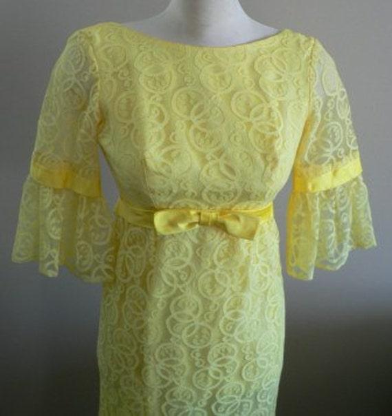 vintage dress ... 50s60s EMPIRE WAIST PRINCESS Swe
