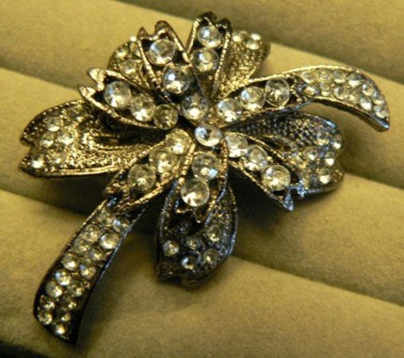 vintage jewels ...   Stunning rare PALM TREE style BROOCH Pin image 0