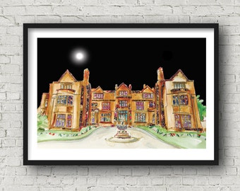 Thornton Manor Hotel, Wirral - Print