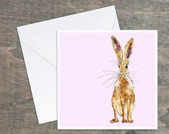 Cute Hare - Standing Hare - Art Card
