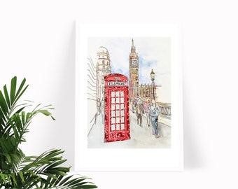 London Red Phone Box