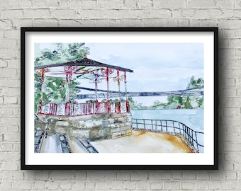 The Bandstand, Chester - Print