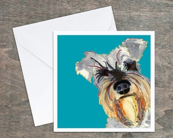 Schnauzer Dog - Art Card