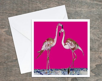 Pink Flamingos - Art Card