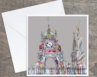 Eastgate Clock, Chester - Art Card