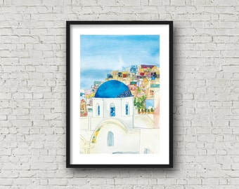 Santorini - Santorini Island - Greece - Greek Wedding - PRINT