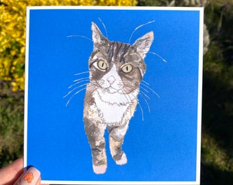 Tabby Cat - Blank Card