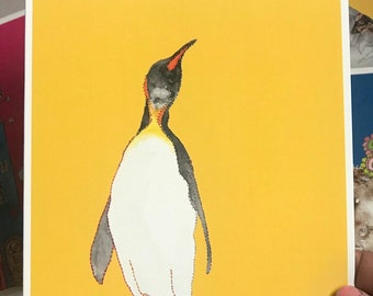 Penguin - Art Card - Blank inside