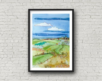 Golf Print - British Open - Royal Liverpool Golf Club - Hoylake