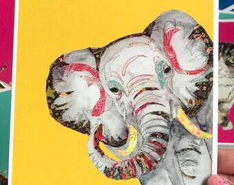 Elephant - Art Card - Blank inside