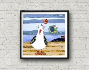 Seagull - Hilbre Island - Cheeky seagulls - PRINT