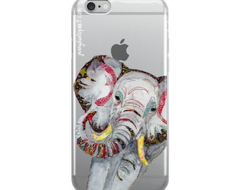 Clear iPhone Case - Elephant