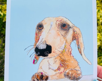 Cute Dachshund Card