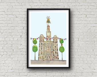 Liver Building - Liverpool Waterfront - Liver Bird - Liverpool - Print