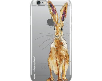 Clear iPhone Case - Hare Design