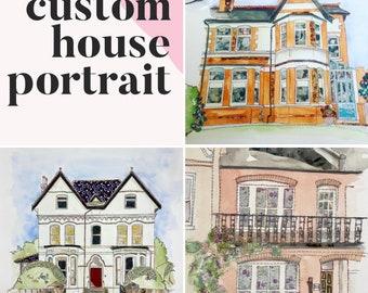 House Portrait - ORIGINAL ARTWORK - made to order