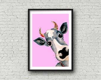 Girl Cow - Print
