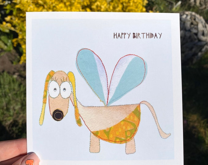 Fairy Dog Birthday Card