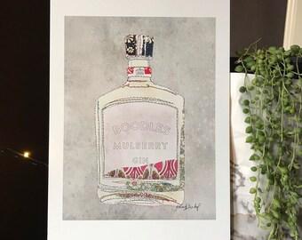 Gin - Boodles Gin - Bottle - Print