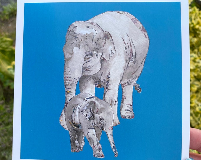 Elephants Card
