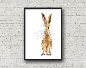 Standing Hare - Hare - Print