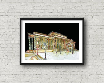 St Georges Hall - Liverpool - PRINT