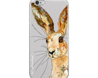 iPhone Case - Hare face - Grey
