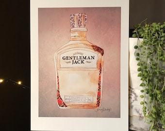 Gentleman Jack whisky Bottle - Print