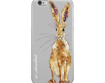 iPhone Case - Standing Hare - Grey
