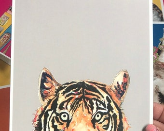 Tiger - Art Card - Blank inside