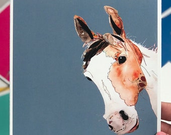 Horse - Art Card - Blank inside