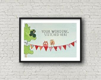 Name Art - Baby Girl - Christening - New Baby - Personalised Art - Customise - Baby Gift - Print