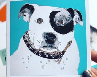 Dog Card - Art Card - Blank inside