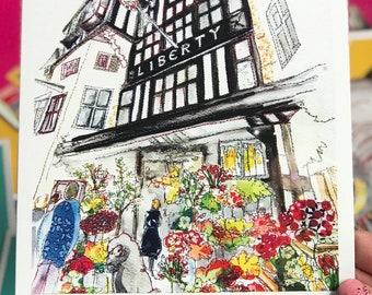 Liberty of London - Blank Art Card