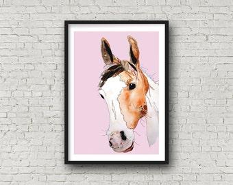 Horse - Pony - Animal Art - Print